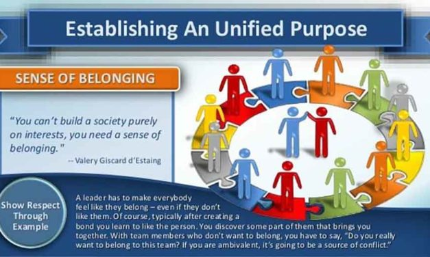 Change In A Sense Of Belonging And Purpose